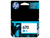 HP 670 INK CARTRIDGE CYAN