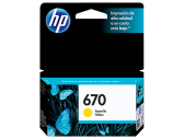 HP 670 INK CARTRIDGE YELLOW